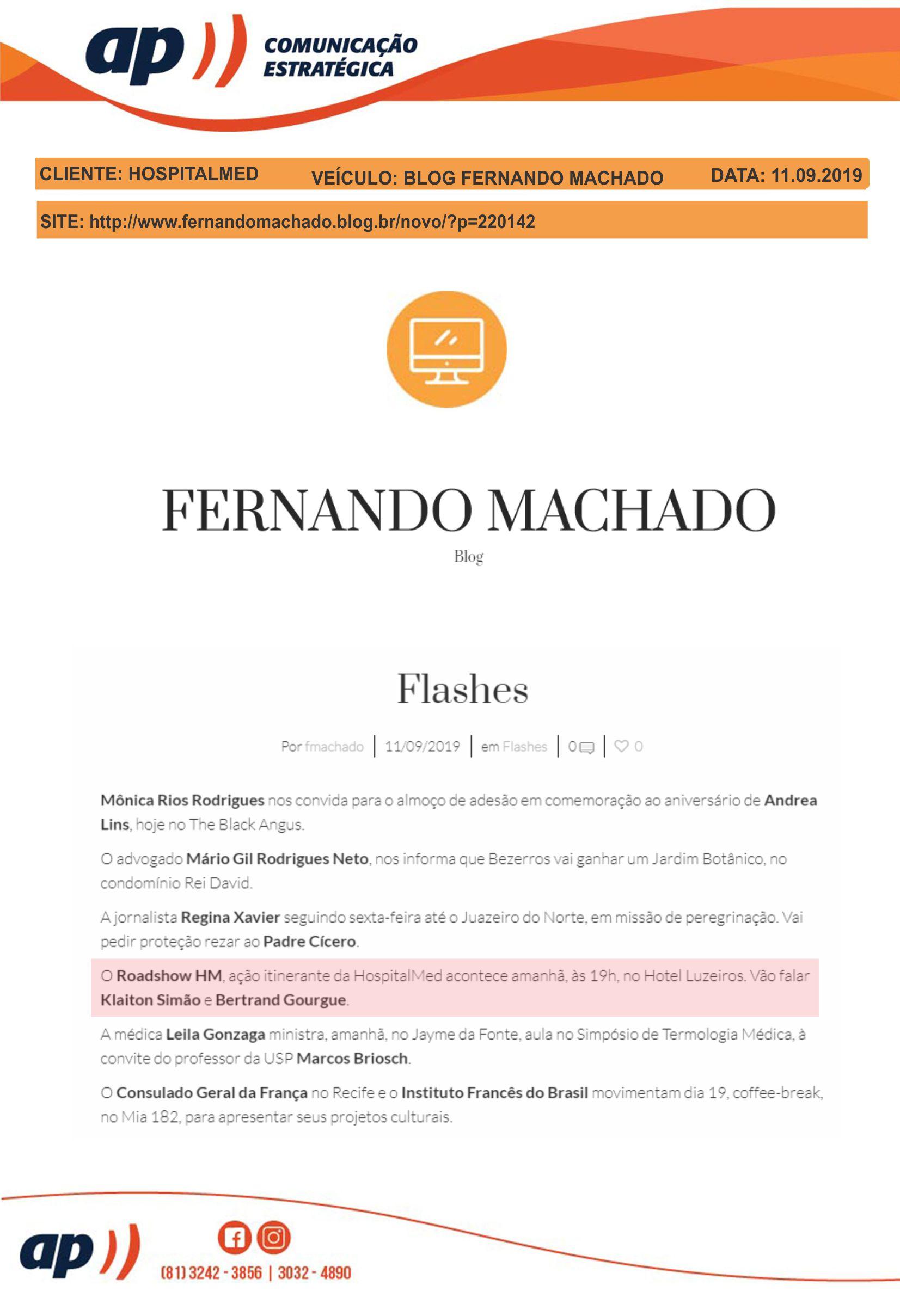 11.09.19 - BLOG FERNANDO MACHADO